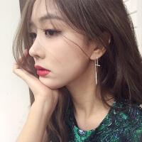 欧丁 日韩国s925纯银耳针耳钉女简约气质装饰耳环配饰后挂式欧美耳饰品HY