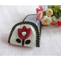 木儿家居 遥控器罩套粉色可爱卡通电视机空调风扇遥控花朵防尘罩保护套布艺
