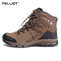 法国PELLIOT户外登山鞋 男女防滑耐磨户外鞋防水透气高帮徒步鞋