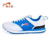 贵人鸟男鞋 正品新品男子复古跑步鞋 皮革拼接休闲运动鞋