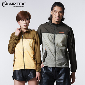 AIRTEX/亚特  透气防泼水 翻盖袋印花皮肤衣男 英国时尚户外