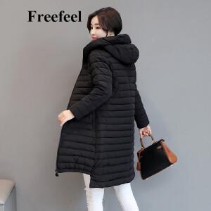 Freefeel2017秋冬新款羽绒棉服中长款女装时尚休闲上衣保暖外套