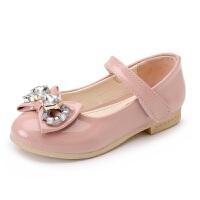 Hug Bear 女童单鞋皮鞋儿童水钻单鞋小女孩跳舞鞋亮皮宝宝公主鞋