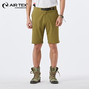 AIRTEX亚特户外夏季透气舒适男款弹力短裤轻薄运动弹力短裤AT1A19MP203