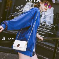代代花枳包包女2017新款时尚斜跨包链条小方包两面背锁扣单肩小包