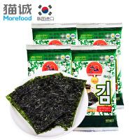 韩国进口 九日迷你海苔20g*4 包饭海苔 即食烤海苔 休闲零食紫菜片