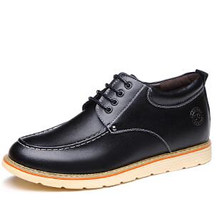 格罗堡春季新款增高鞋男隐形内增高男鞋6cm男士秋冬新款英伦商务工装休闲鞋户外增高鞋男K7299