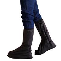 骑行摩托车防水鞋套  防沙鞋套 男士高筒平跟防雨鞋套  防滑雨靴套
