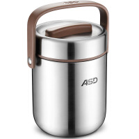 爱仕达保温桶ASD 1.9L保温提锅304不锈钢鼓形保温饭盒 1619G 便当盒保温盒