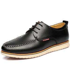 格罗堡春季新款休闲鞋男鞋英伦时尚休闲皮鞋男士商务正装板鞋