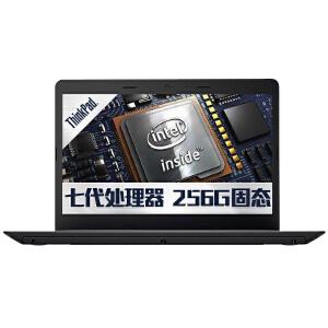 联想(ThinkPad)轻薄系列E470(20H1A024CD)14英寸笔记本电脑(i3-7100U 4G 256GSSD   Win10系统)黑