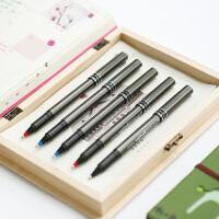 日本三菱UB-155耐水性走珠笔0.5mm签字笔水笔黑/红/蓝