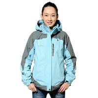 AIRTEX亚特户外秋冬三合一冲锋衣女保暖防水两件套登山服大码外套