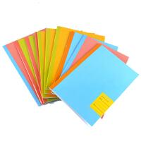 Guangbo广博 GBR0664 十本装4色多彩32K软抄笔记本142*205mm记事日记练习作业本子软面抄办公用品小学生用文具40型 当当自营