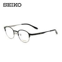 Seiko/精工纯钛眼镜框 圆框眼镜架女配小脸近视眼镜商务HC-3009