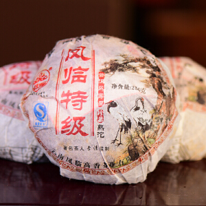 【4个一起拍】2004年 原料凤临茶厂 凤临特级沱 普洱生茶 250克/个