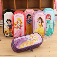 韩版学生铅笔袋Disney/苏菲亚 白雪公主 冰雪奇缘 学生文具盒女孩收纳盒儿童卡通铅笔袋