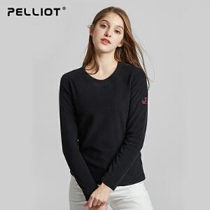 【折上再减】法国PELLIOT户外抓绒衣男女 保暖透气圆领套头抗静电摇粒绒外套
