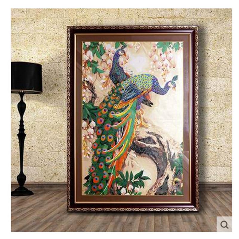 客厅餐厅动物风景大幅欧式手绘装饰画