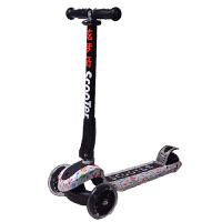 【当当自营】炫梦奇滑板车儿童可调节摇摆车折叠式三轮全闪光加大pu轮小孩划板踏板车 音乐家