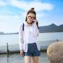 Freefeel2017夏季新款防晒服女装短款时尚休闲糖果色外套