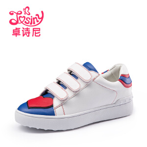 卓诗尼2016韩版秋季潮魔术贴小白鞋运动板鞋跑步女鞋休闲鞋