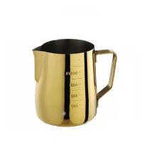 Tiamo土豪金尖嘴加厚拉花杯 镀钛金款/附内外刻度标/600cc