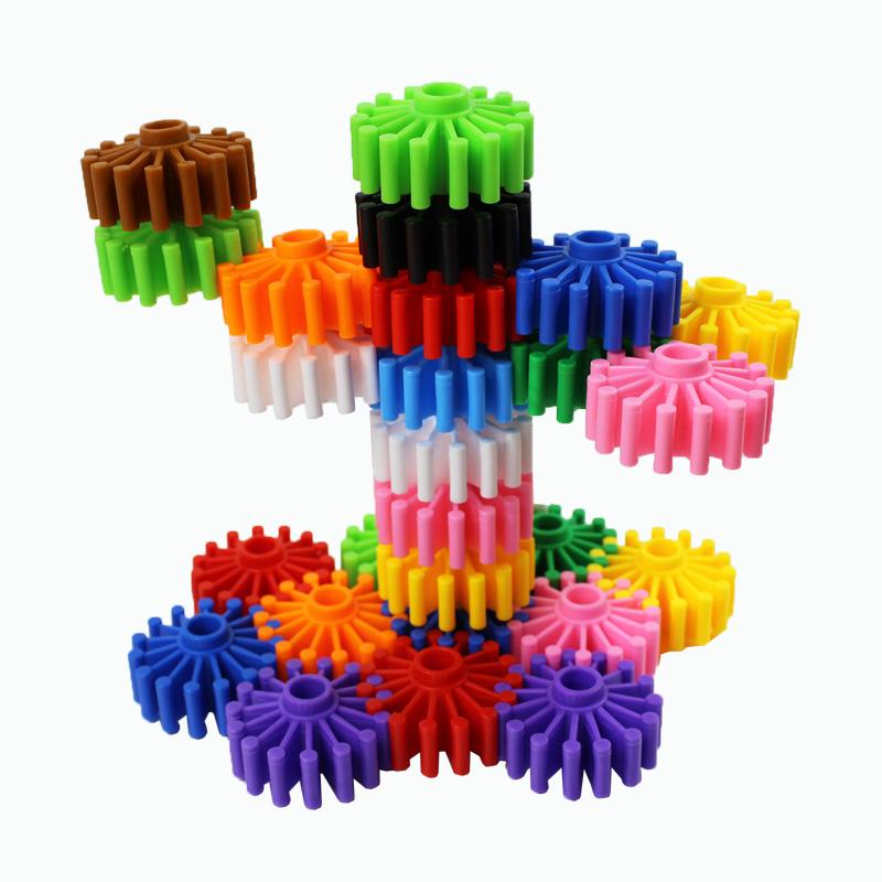 拼装塑料积木幼儿园儿童益智力早教启蒙拼图玩具袋装