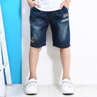 唯思凡童装夏装2017新款裤子儿童棉质短裤中大童夏季牛仔短裤