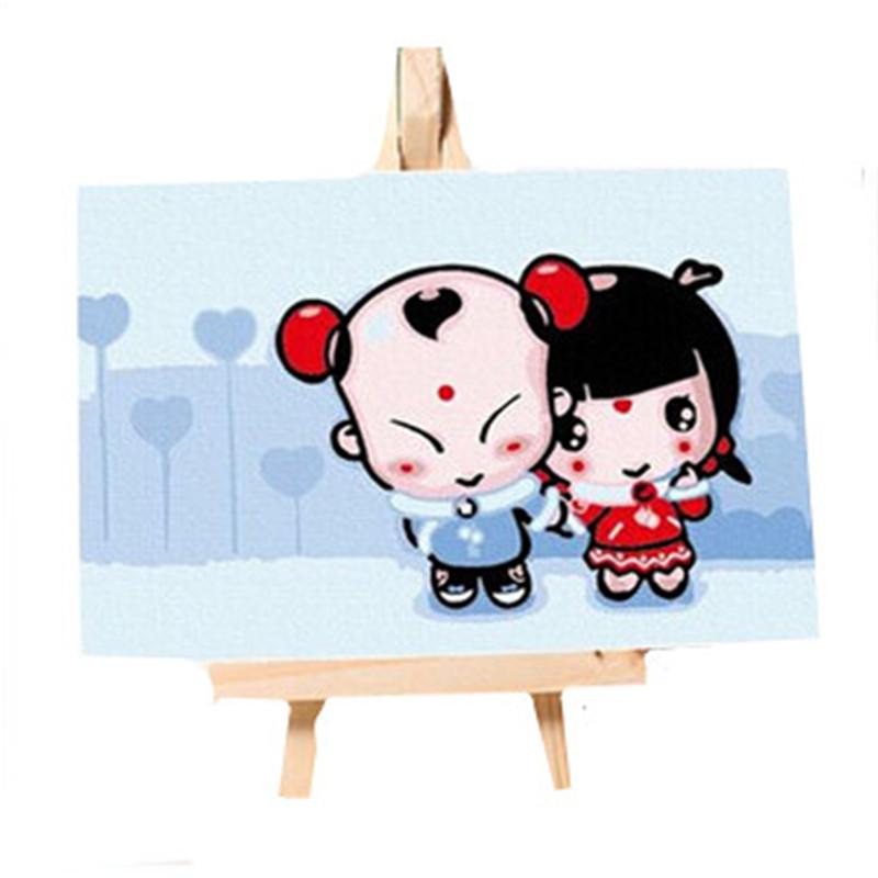 创意文具数字油画 客厅动漫人物卡通儿童手绘装饰画 动画系列 多款可
