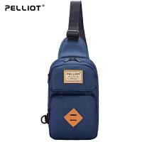 【618返场大促】法国PELLIOT运动单肩包男女 多功能户外包小肩包运动包 休闲斜挎包
