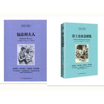 包法利夫人 中英文双语名着英文版 中文版 读名著学英语 增强阅读能力词汇语法 阅读双语读物书英汉对照学生美丽英文