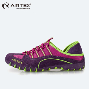 AIRTEX亚特 夏季透气徒步鞋 女式登山徒步鞋 女士户外个性网面休闲鞋