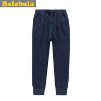 巴拉巴拉balabala男中童舒适休闲运动裤长裤春装童装