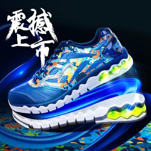 贵人鸟男鞋 2016秋季新款男子气垫减震跑步鞋复古图腾休闲运动鞋