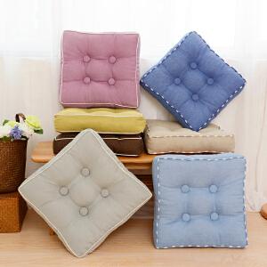 乐唯仕加大加厚坐垫椅垫靠垫布艺蒲团办公室飘窗座垫胖子垫瑜伽地板榻榻米垫