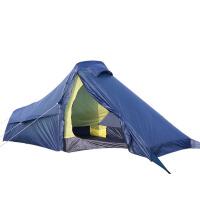户外单人帐篷登山露营装备双层防雨野外铝杆帐篷套装