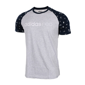 Adidas阿迪达斯男装 2017夏季新款NEO运动休闲透气短袖T恤 BK0583/BQ0831