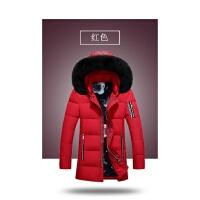 吉普盾羽绒服男2016秋冬季新品长毛帽男士羽绒服韩版修身保暖外套16002D1698