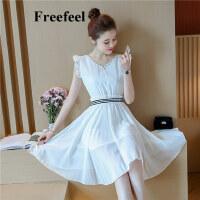 Freefeel2017夏装新款连衣裙韩版时尚中腰裙装上衣公主裙6650