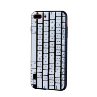 iPhone7 浮雕彩绘键盘手机壳 隐形支架手机壳 可挂绳壳