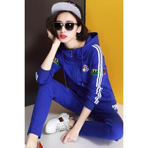 自由呼吸运动服套装女春秋2017新款潮韩版春季时尚休闲卫衣两件套