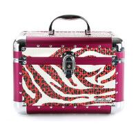 手提化妆包   化妆箱   带锁带镜子化妆盒  美甲工具箱