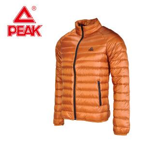匹克冬季男士连帽羽绒服长款加厚保暖立领青外套纯色F564181