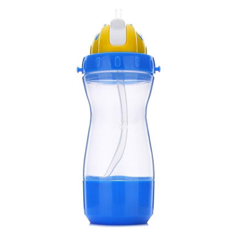 【当当自营】乐儿宝(bobo) 乐乐多功能杯400ml 蓝色储物盒BB306B-B水壶/水杯/吸管杯