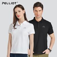 法国PELLIOT户外运动T恤 POLO衫 男女透气吸湿快干翻领短袖休闲运动T恤