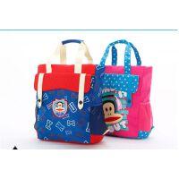 正品大嘴猴儿童小学生书包男女补习包手提袋拎书袋补课包PKY2094
