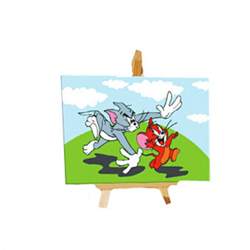 数字油画客厅房间动漫卡通儿童手绘画