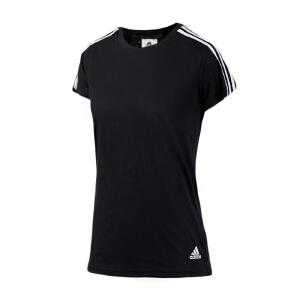 Adidas阿迪达斯 2017夏季新款女子运动休闲圆领短袖T恤 S97183/B45789