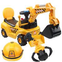 麦宝创玩 坦克履带式仿真型挖土机挖掘机助步车可骑可坐儿童玩具挖机 工程车